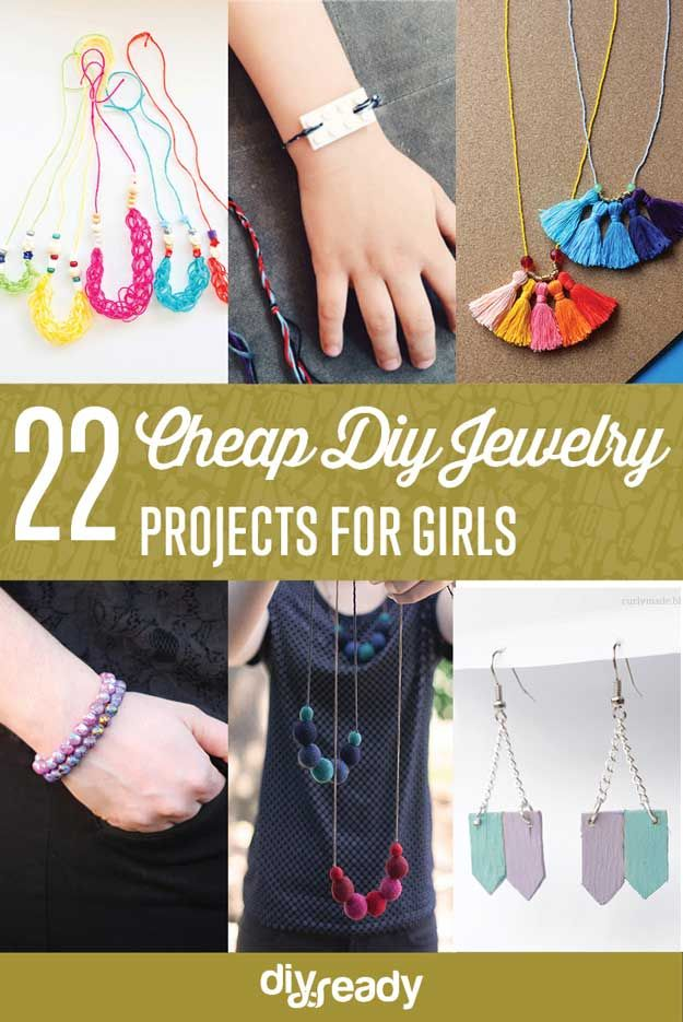 Cheap jewelry projects for girls diy jewelry for girls and projects 22 cheap diy jewelry projects for girls cute and beautiful handmade jewelries http solutioingenieria Choice Image