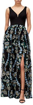 cd918dd4df Adrianna Papell Embroidered Tulle Maxi Dress