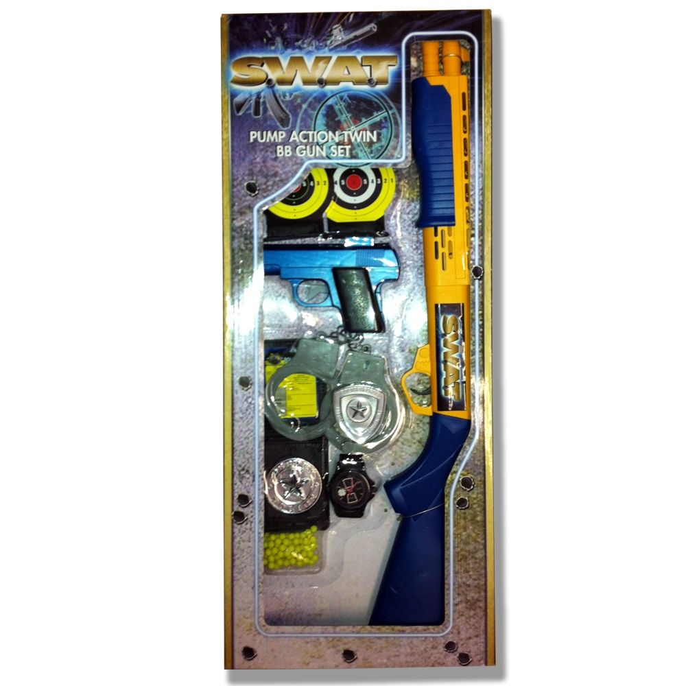 swat pump action twin bb gun set 4 99 toy guns and roleplay