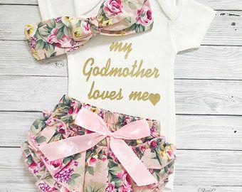 4f0c0d283 Goddaughter Gift, My Godmother Loves Me, Baby Shower Gift, Baby Girl  Bodysuit, Godmother Gift, God Daughter Gift, Baby Girl Bodysuits