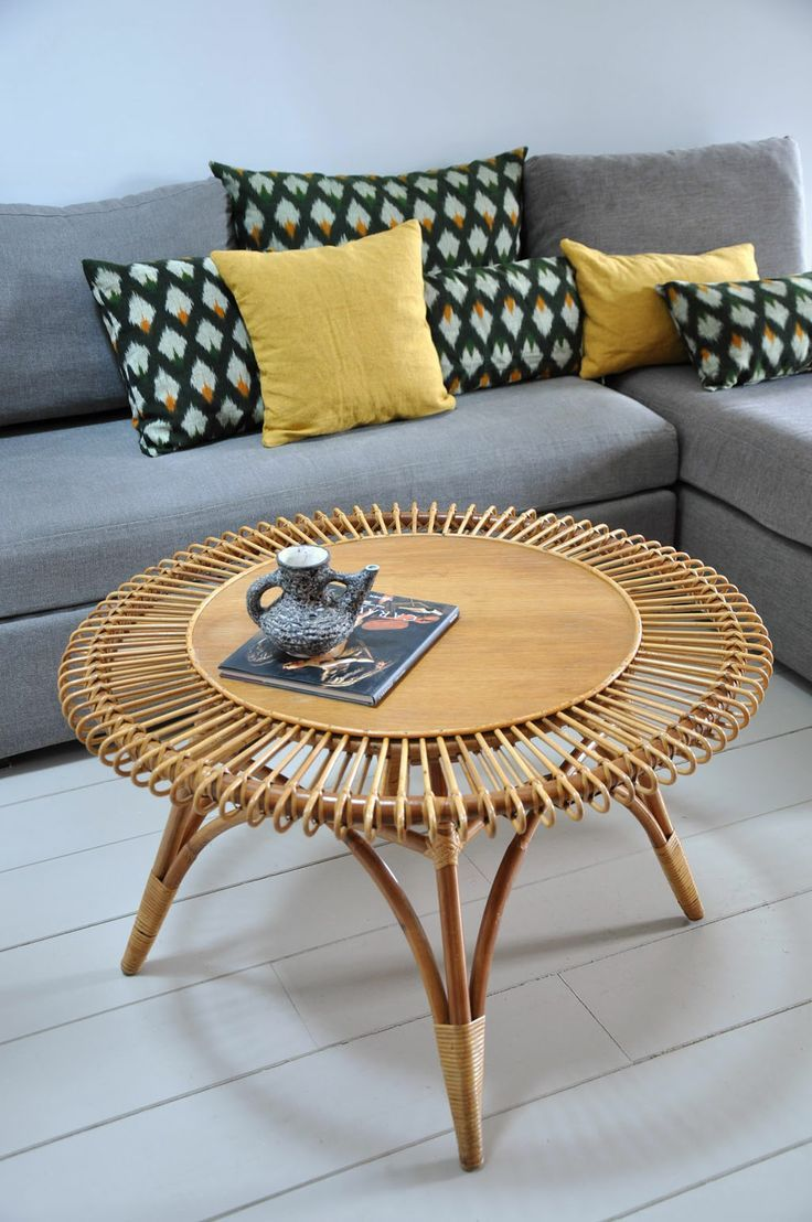table rotin vintage | déco | Pinterest | Rotin, Table et Osier