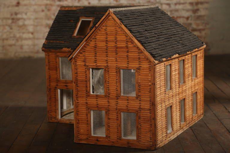 Vintage Wooden Doll House Wood Architectural Model Antiquevintage