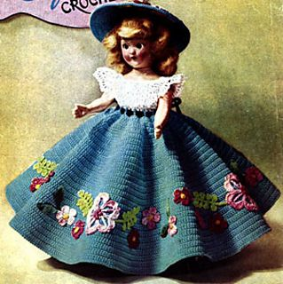 Doll Promenade #17 pattern by Lily Mills Company #indianbeddoll