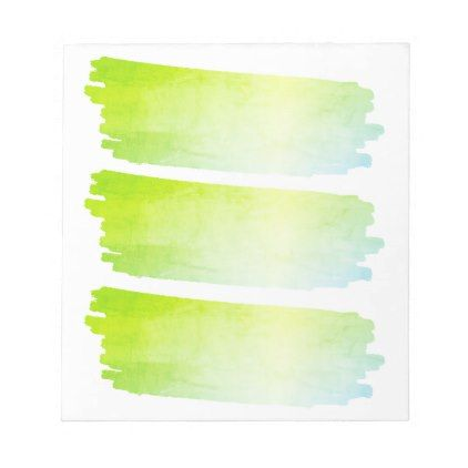 Blue Green Paint List Brush Watercolor Swatches Notepad