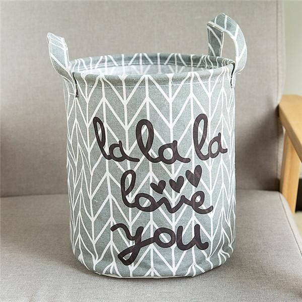 Laundry Bags With Handles Adorable Storage Baskets Folding Laundry Basket Yellow Arrow Couple Linen