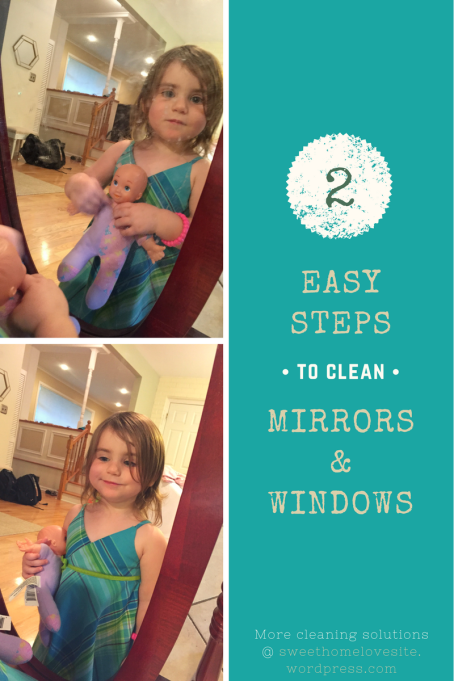 2 Steps:  Wet Norwex EnviroCloth + Dry Window Cloth = Clean Mirrors and Windows!