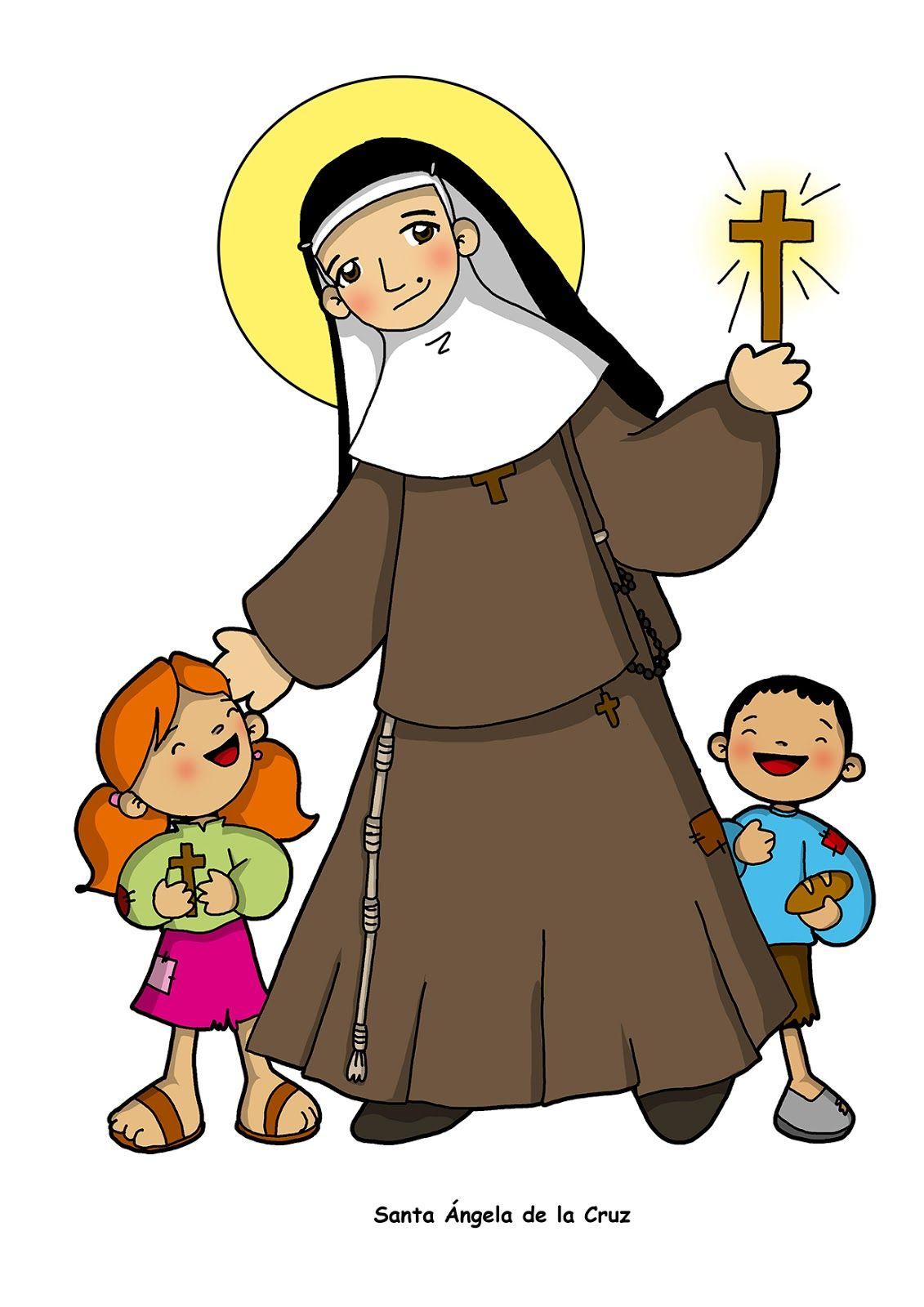 Santa Angela Cruz Jpg 1131 1600 Catequese Santos Bonecas