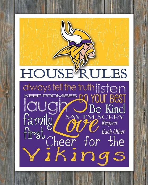 Minnesota Vikings House Rules 8x10 Glossy Photo Quot Great For
