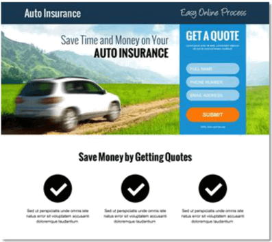 Auto insurance call to action 499 day cpa marketing auto insurance call to action 499 day cpa marketing blueprint and case study malvernweather Gallery