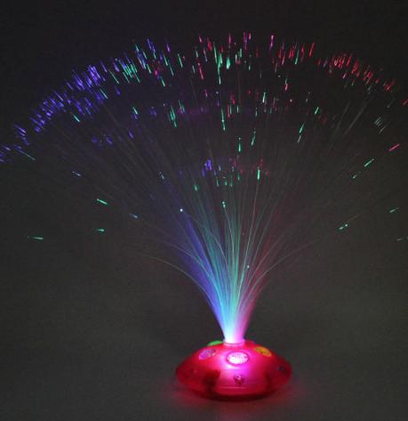 Batteridriven LED Lampa med trådar, lyser i olika färger