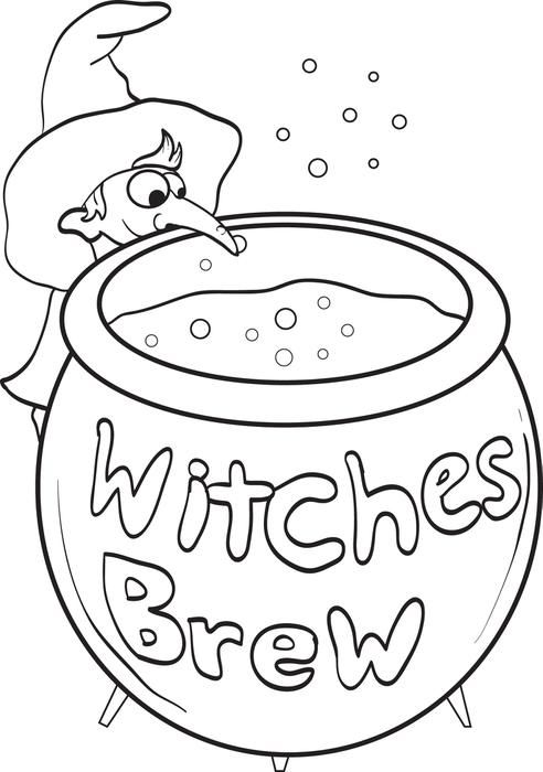 Witch Coloring Page 6 Witch Coloring Pages Super Coloring