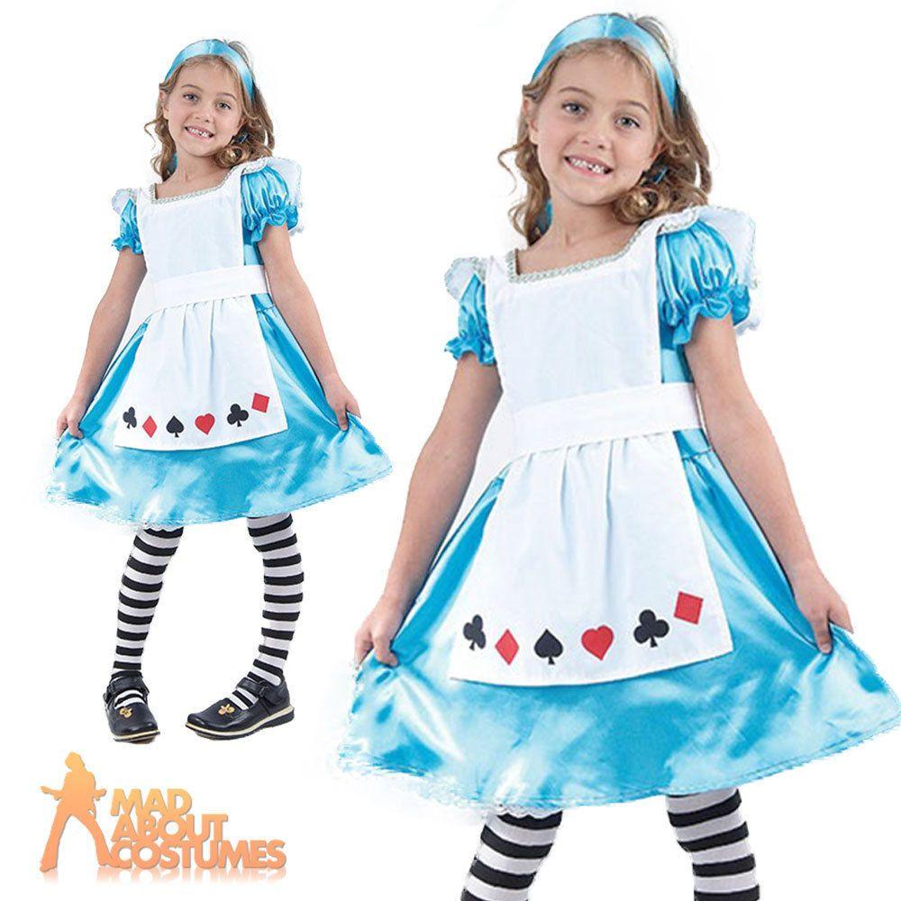 Child Alice Tea Party Costume Girls Fairytale Book Week Day Fancy ...