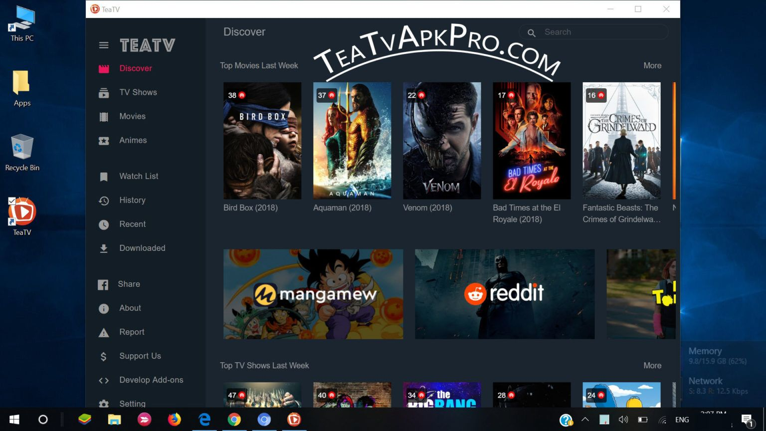 Teatv For Pc Download Teatv V1 5 0 64bit Mediafire 43 35mb In 2020 Watch Free Hd Movies Hd Movies Download