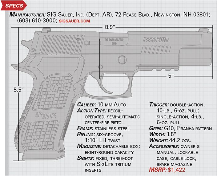 SIG Saueru0027s latest big-bore autoloader is a steel-frame P220, and - firearm bill of sales