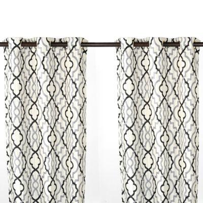 Kirkland S Black And Grey Curtains Grey Curtains Teal Bathroom