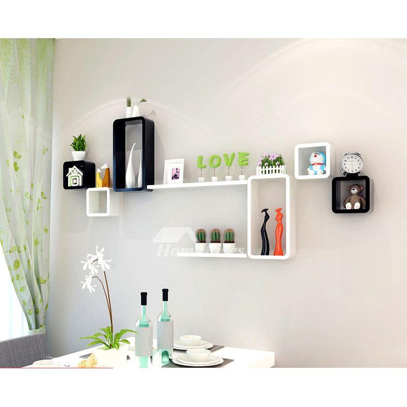 modern wooden cube wall shelves wall mounted white on wall mount bookshelf id=67487