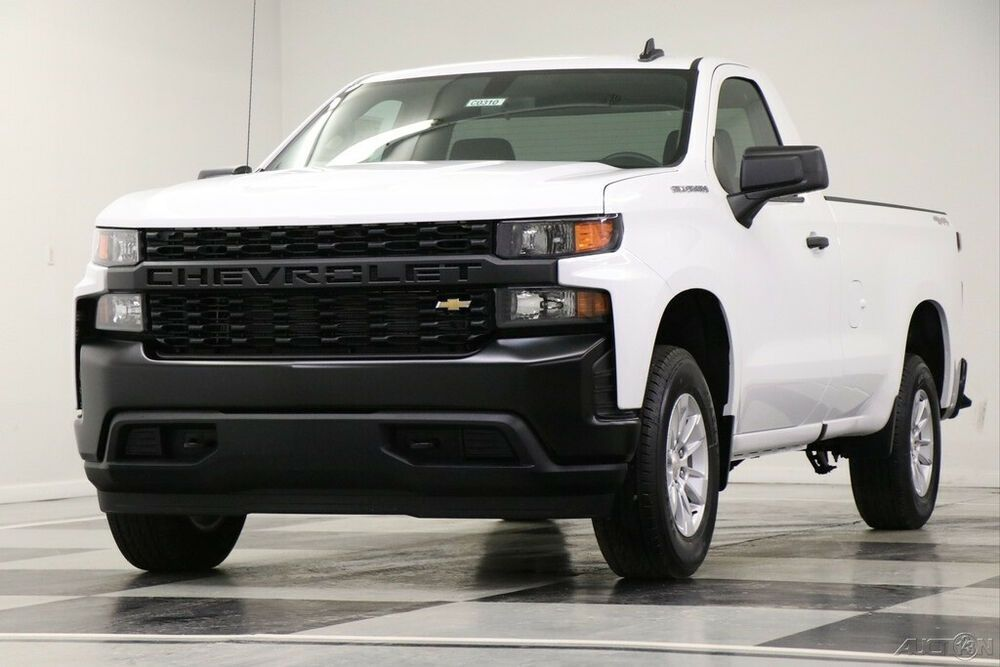 2020 Chevrolet Silverado 1500 Msrp 39545 4x4 Work Truck Camera White Reg Cab 4wd New Wt Bench Seats 5 3l Single In 2020 Work Truck Chevrolet Silverado 1500 Hybrid Car