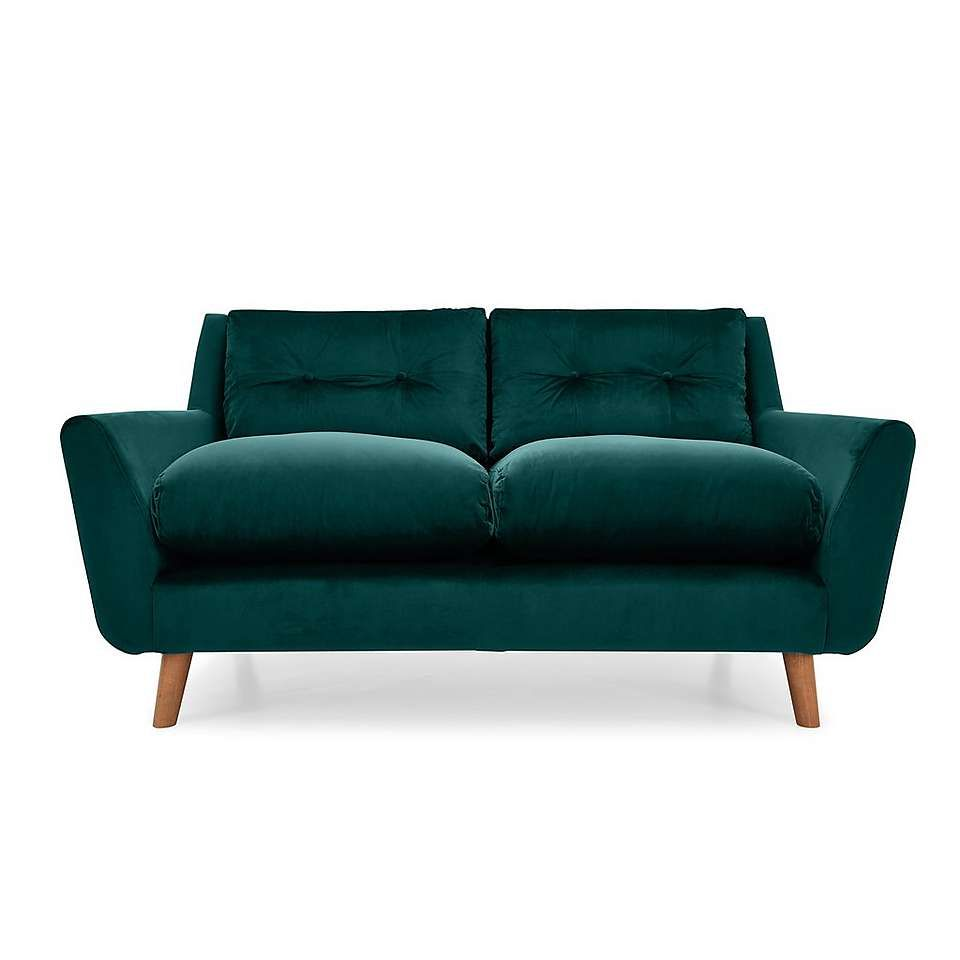 Halston Velvet 2 Seater Sofa 2 Seater Sofa Sofa Faux Leather Sofa