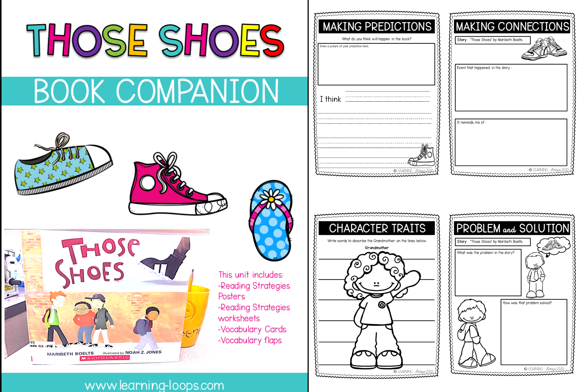 Shoe Theme Activities And Worksheets Learning Loops Writing Activities Reading Themes Theme Activity [ 1281 x 1920 Pixel ]