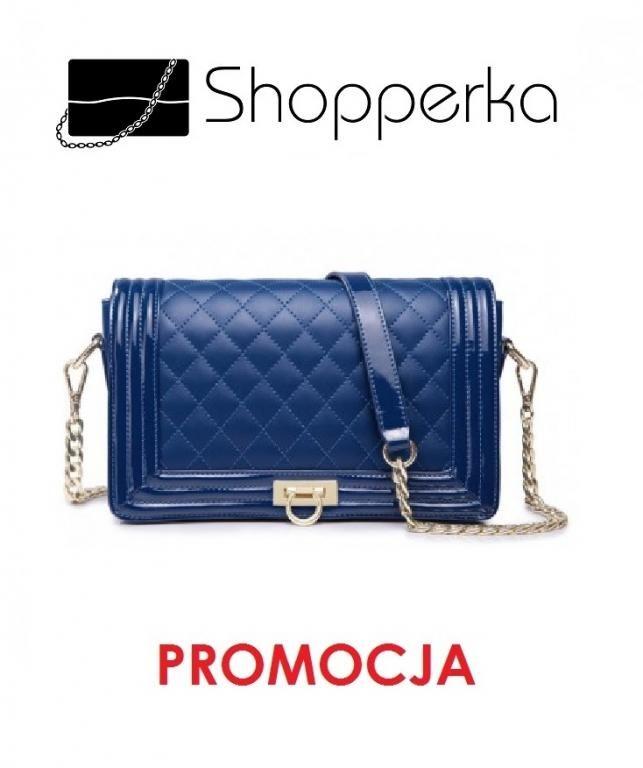 Pikowana Skorzana Kopertowka Kobaltowy Nucelle 4870528453 Oficjalne Archiwum Allegro Shoulder Bag Cowhide Handbags Shoulder Handbags