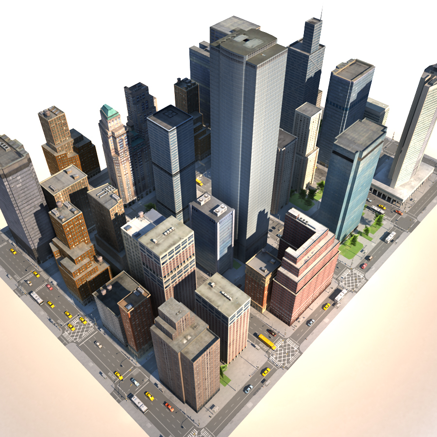 3d City Building V Ray City Buildings Building Architecture Rendering