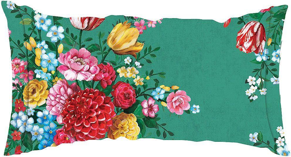 Schickes Kissen »Dutch Painters« der Marke PiP Studio. Das Design dieses Kissens sticht sofort ins Auge - die kräftigen Farben und das hübsche Blumenmuster machen schon ordentlich was her. Das eckige Kissen wird mit Füllung geliefert, die herausgenommen werden kann. So können Sie die Kissenhülle aus 100% Baumwolle ohne Weiteres bei 60 Grad in der Maschine waschen. Machen Sie es sich gemütlich, ...