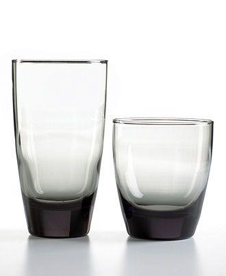 The Cellar Glassware, Smoke 16 Piece Set - Glassware - Dining & Entertaining - Macy's