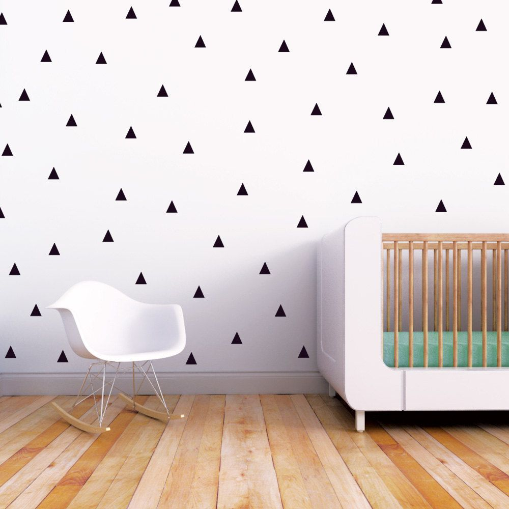 Nursery Wall Decal Kids Wall Decal Black Triangle Decals Baby Nursery Wall Decal Kids Monochrome Decor Little Peaks Children Wall Decal