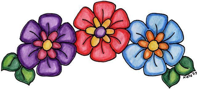 Imagenes De Flores Y Mariposas Para Imprimir Con Colores Suaves Y