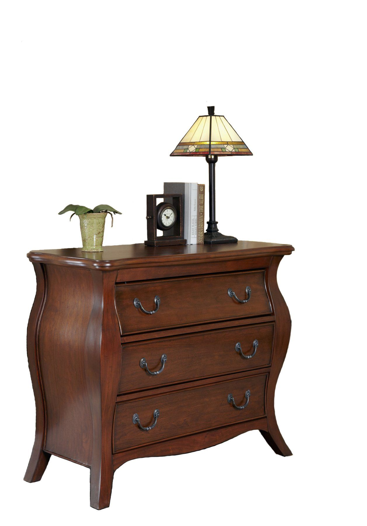 Home styles the regency bombe chest cherry finish furniture