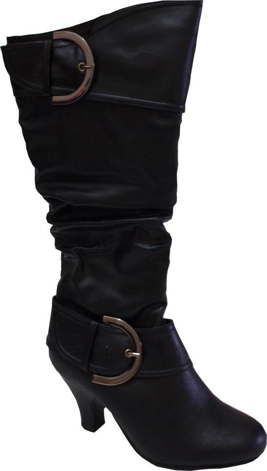 super populaire 4b209 866f8 Bottes Hautes Noires Fashion Sexy Italiennes Femme Simili ...