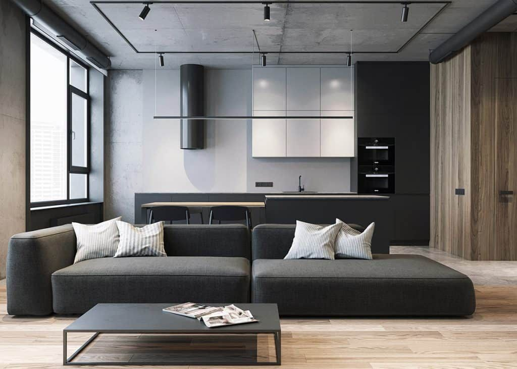 Home Designing Grey Raw Masculine Interiors Contemporary