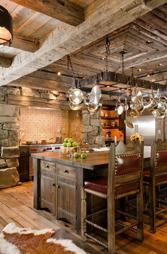 Cuisine rustique 23 id es inspirations photos for Interieur rustique