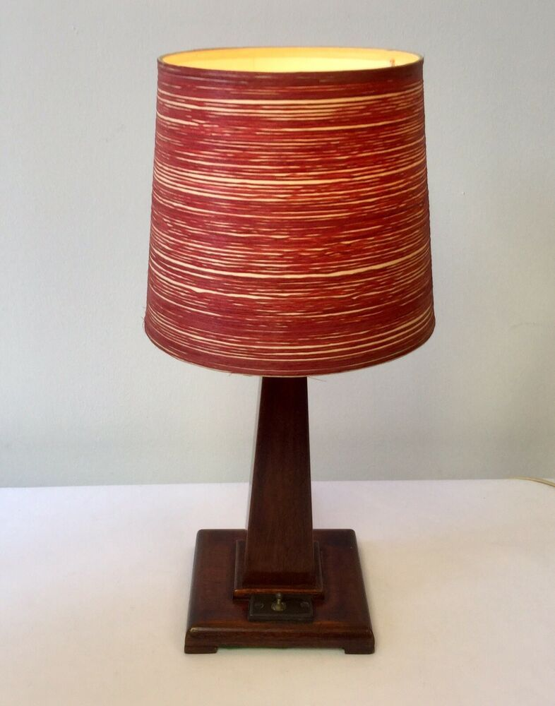 Vintage 1930s Art Deco Wooden Lighthouse Table Lamp Light Original Shade Rewired Antique Floor Lamps Table Lamp Table Lamp Lighting