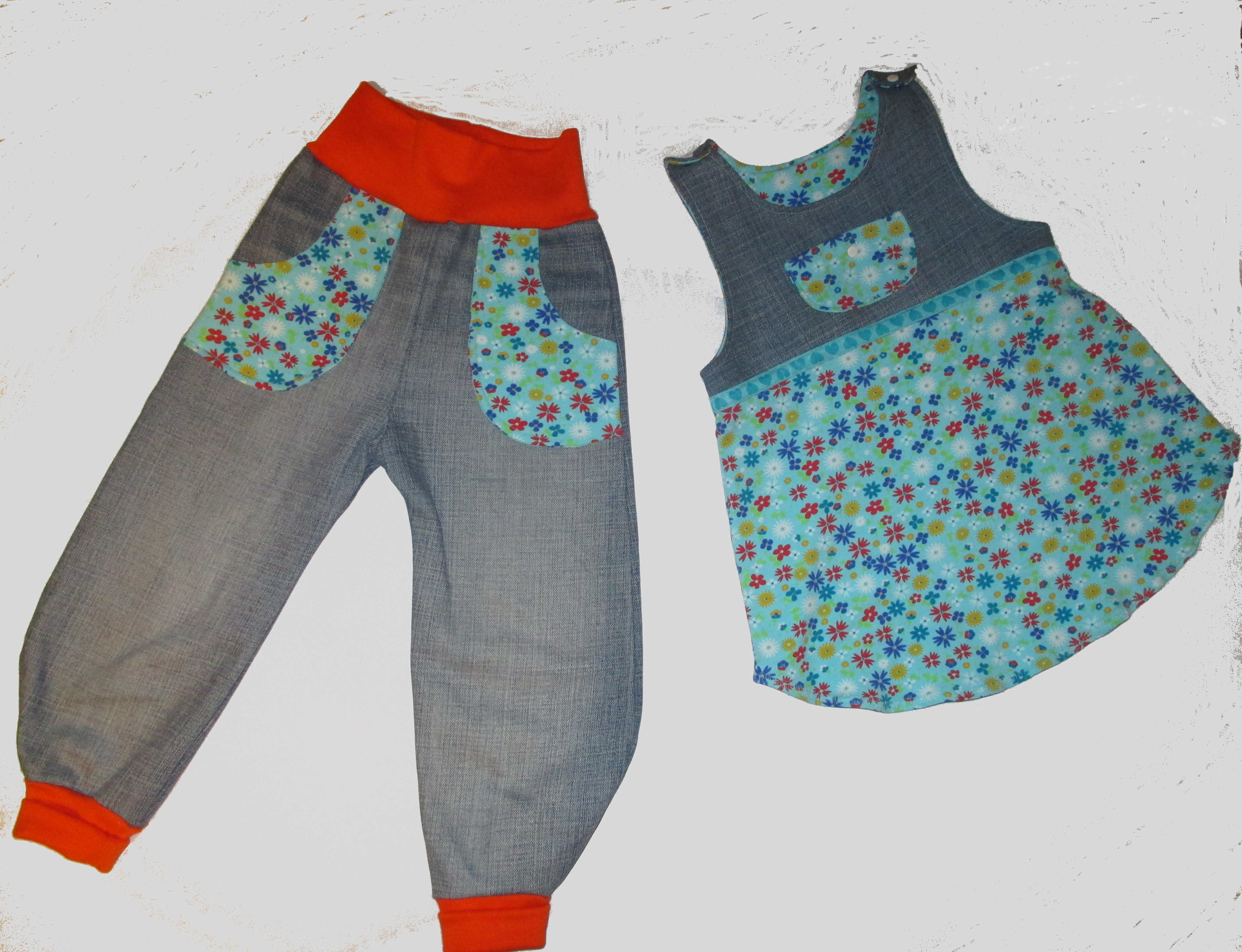 Upcycling aus alter Jeans: Frida Kleid von Milchmonster Frida Hose ...