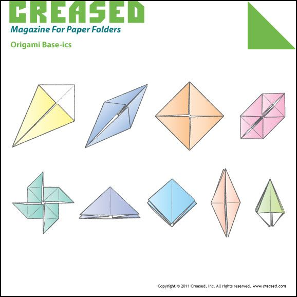 Creased Origami Website Basics Cover Page Origami Pinterest