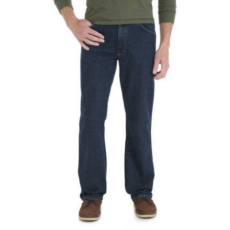 60efe09e Wrangler - Big Men's Regular Fit Jeans with Comfort Flex Waistband, Size:  48 x 30, Blue