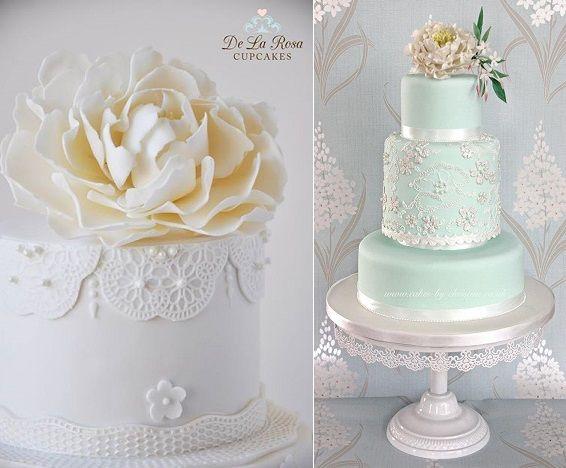 Beaded Lace Wedding Cakes De La Rosa Cupcakes L By Christine R