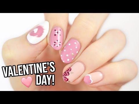 Valentines Day Nail Art For Beginners Using A TOOTHPICK!