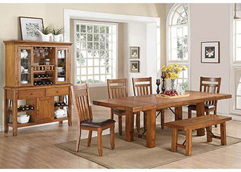 1218 Acacia Dining Table with 6 Chairs