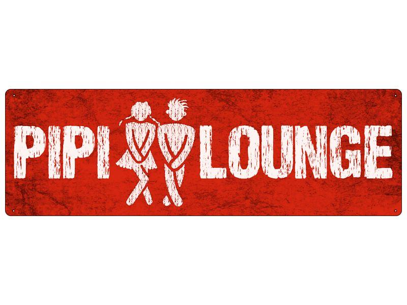 pipi lounge rot wc bad blechschild metall schild von interluxe via, Hause ideen