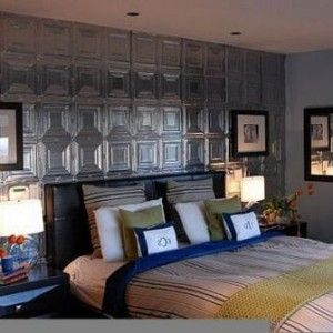 Image Result For Tin Tile Accent Wall