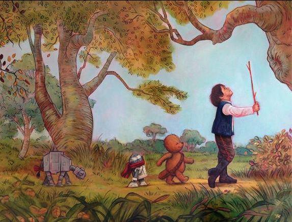 Winnie the Pooh/Star Wars mashup.