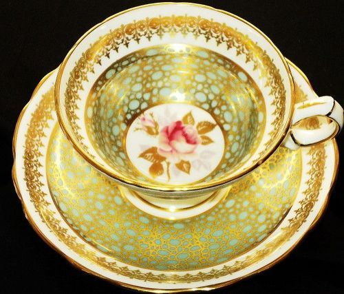Hammersley Cactus GoldN Single Rose  Tea cup and saucer