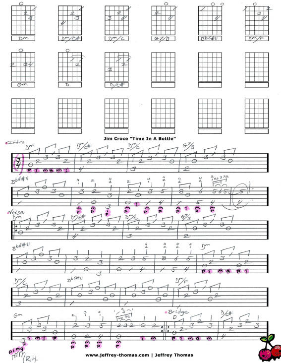 Jim Croce Time In A Bottle Guitar Tab By Jeffrey Thomas Learn All
