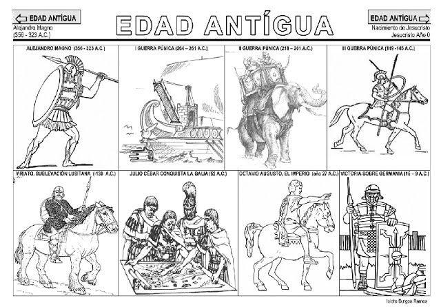 Fichas De La Edad Antigua Edad Antigua Proyectos De Historia Geografia E Historia