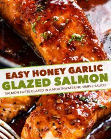 Honey Garlic Glazed Salmon (20 min. recipe!) - The Chunky Chef