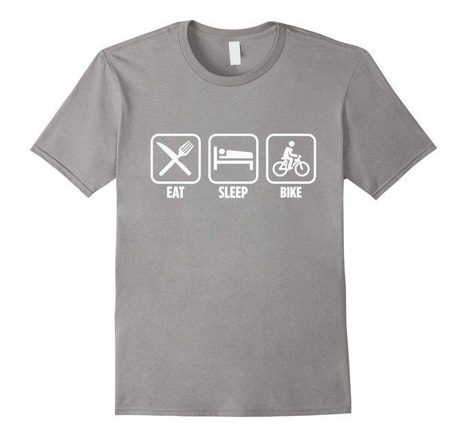 Amazon.com: Eat Sleep Bike Mountain Biking Funny T-Shirt: Clothing
