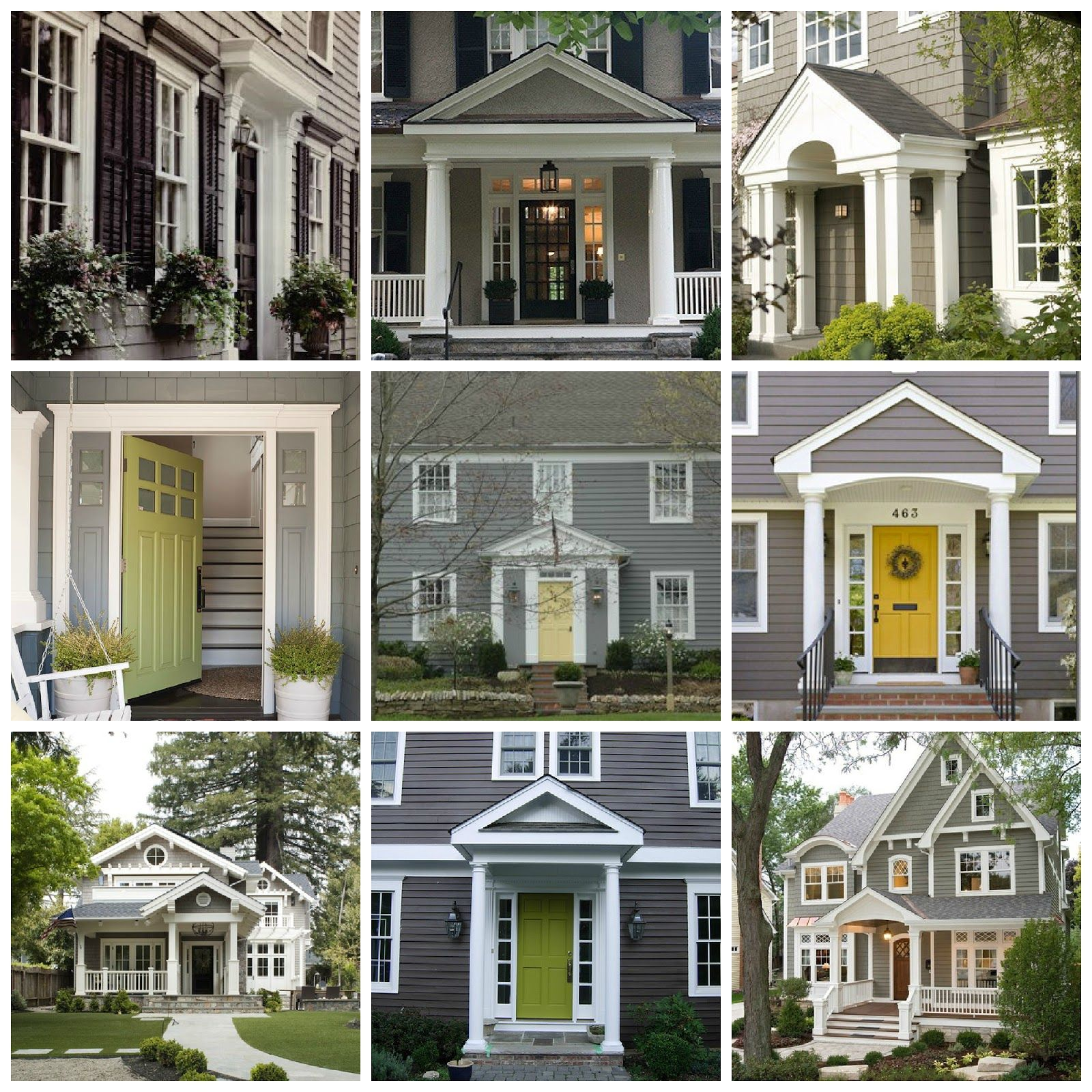 Gray exterior house photos cozy cottage cute what i - Door colors for gray house ...