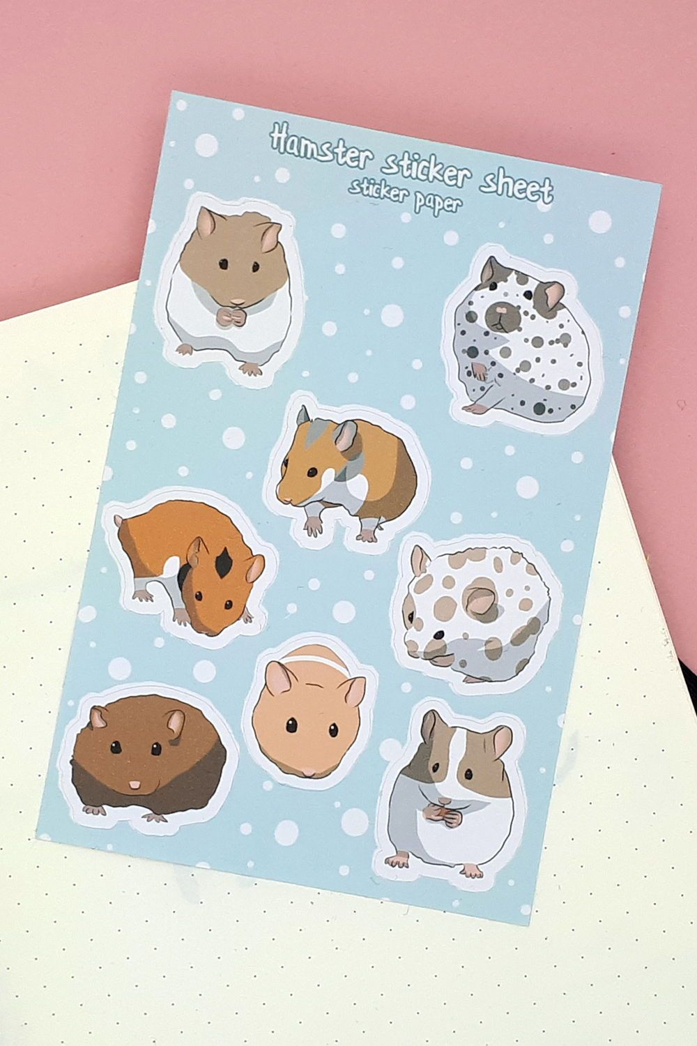 8 Cute Hamster Stickers For Your Bullet Journal Planner Etsy In 2020 Vinyl Sticker Paper Planner Bullet Journal Sticker Paper